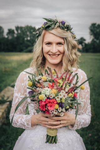 svatební kytice nevěsta jičín
